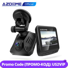AZDOME DAB211 Ambarella A12 Car Dash Cam 1440P Super Night Vision Dashcam Camera Recorder DVR Built in GPS ADAS Loop Recording