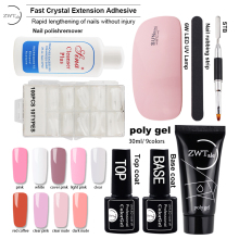 ZWTale Poly Gel Set Jelly Hard UV Varnish Nail Art Polish Qucik Building Extentions Manicure Tips Polygel
