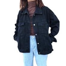 Women Basic Coats Spring Denim Jacket Vintage Long Sleeve Jeans Jackets Slim Female Coat Casual Girls Outwear Tops Windbreaker цена