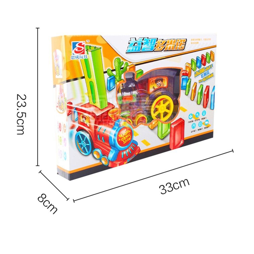 Детское домино для поездки на машине или поезде комплект со звуком светильник Автоматический выброс настроить блоки Лифт трамплин Мост Комплект детских игрушек