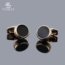 Tomye классические латунные черные эмалевые Запонки мужские