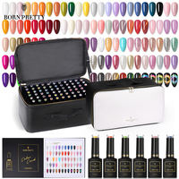 BORN PRETTY PRO Pure Color Nail Gel Set 15ml 2020 New Colors Nail Gel Glittery 9D Magnetic Soak Off UV Gel Varnish 132 Bottle