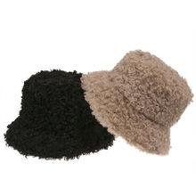 Зимняя плотная теплая мягкая женская панама из овечьей шерсти