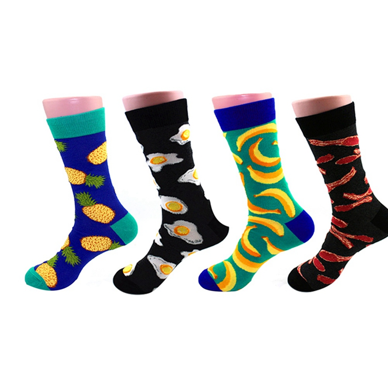 Socks Men's Skateboard Cotton Colorful Socks Funny Socks Men's Hip Hop Colorful Knit Yin And Yang Casual Men's Socks