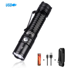 Trustfire E3R EDC Flashlight Cree XPL 1000lm 18650 USB Rechargeable Torch IPX8 Flashlight with Power Indicator for Home Use