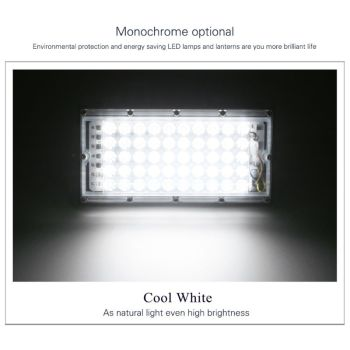LED Floodlight Outdoor Spotlight 50W Wall Washer Lamp Reflector IP65 Waterproof Lighting Garden RGB Flood Light AC 220V 240V 12x1w 0 5m 50cm ip65 outdoor flood wall washer light lamp blue green yellow red color ce rohs waterproof warranty 5 years