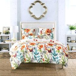 Nowoczesne pościel zestaw pojedyncza kołdra szlifowanie wielokrotnego drukowania kołdry z poszewka na poduszkę 2/3 sztuk kołdra dla królowej łóżko typu King Size