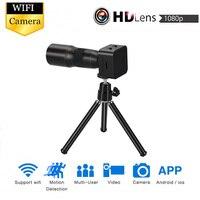 Zoom Wifi Mini Camera Focus Optics lens sport Action IP P2P Cam Micro Motion Sensor Camcorder Home security nanny tripod outdoor