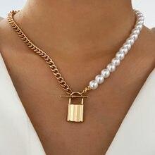 Modyle панк большой звено цепи ожерелье колье для женщин стимпанк Многослойные Золото Цвет Подвеска