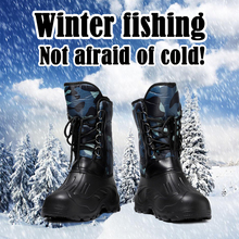 Зимняя обувь для рыбалки водонепроницаемые болотные резиновые сапоги для рыбалки Нескользящие бархатные сохраняющие тепло уличные изделия резиновые сапоги для охоты и рыбалки