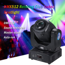 16Colors LED Moving heads disco Light 9/15CH Rotating Spotlight DMX512 120W sound party lights Auto-run for DJ Disco Party stage(China)