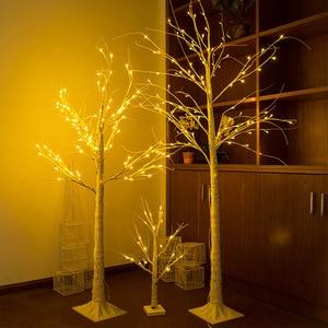 LED Silver Birch Lamp Christma