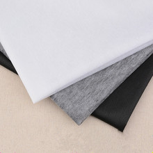1 M White Black Non-woven Fabric Interlinings Iron On Sewing Patchwork Single-sided Adhesive Lining Handmade Garment Accessories