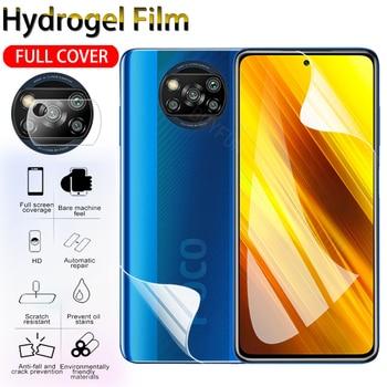 1-3PCS Hydrogel Film For Xiaomi Poco X3 NFC Screen Protector Camera Protective Film For Xiao mi Poco X3 NFC