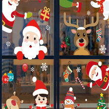 Window-Stickers Decor Christmas-Decorations Glass Noel Home-Wall New-Year Natal