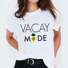 Women Pineapple Vacay Mode Fashion Ladies Print Lady Womens