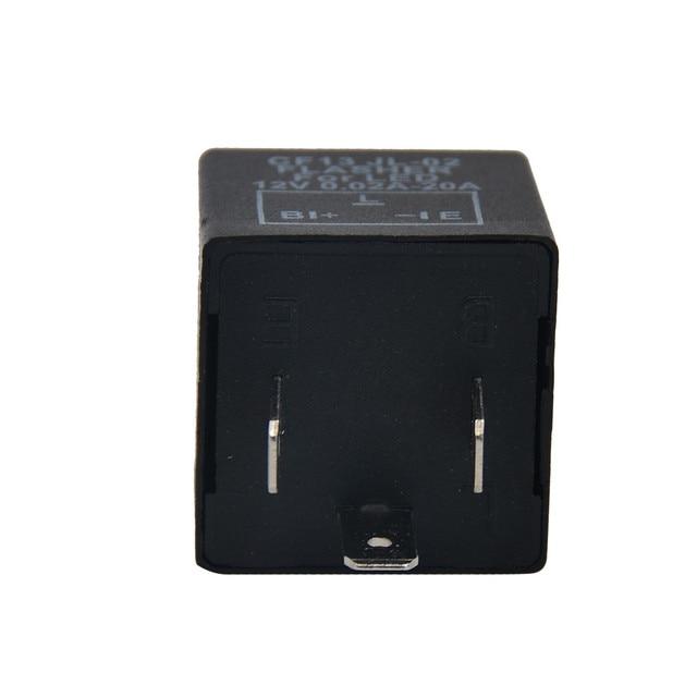 1pc prático preto útil 3 pinos unadjustable cf13 jl02 led flasher carro suprimentos