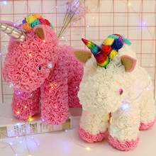 Купить с кэшбэком DIY PE Foam Rose Unicorn Birthday Party Decoration BabyShower Girl Favor Gifts Unicornio Fiesta Birthday Party Decorations Kids