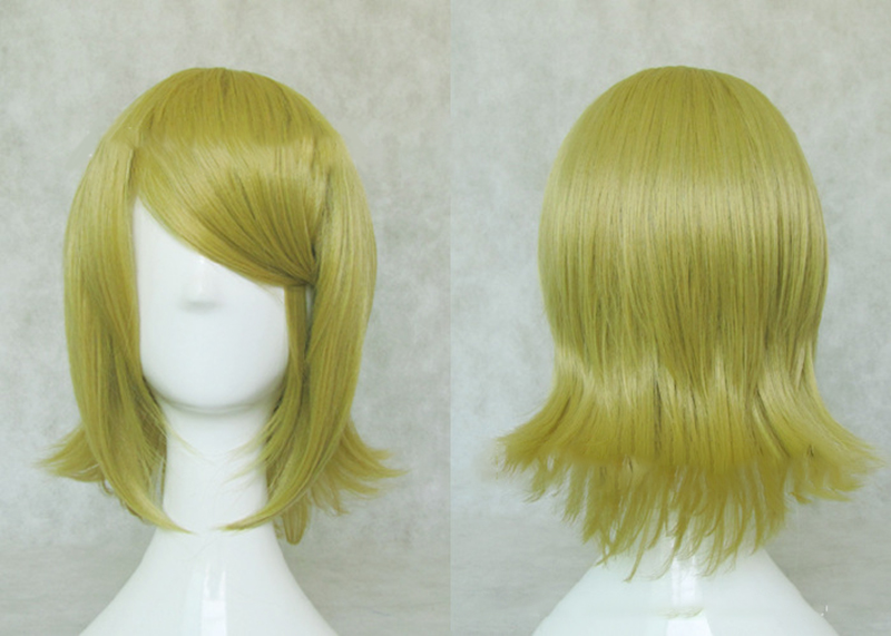 HAIRJOY Synthetic Hair Short Blonde Vocaloid Kagamine Rin Cosplay Wig High Temperature Fiber Free Shipping 3 Colors Available 18