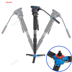 Carbon Fiber Monopod For Video DSLR Camera With S4 Ballhead 5 Section Tripod Bag Max Loading 4kg C49TDS4 CD50 T03