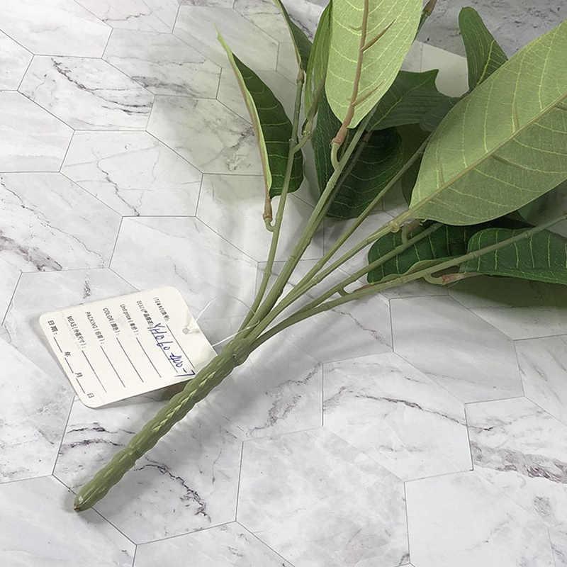 50Cm 7 Vorken Tropische Leafs Kunstplanten Nep Boom Takken Silk Magnolia Bladeren Plant Muur Gebladerte Voor Home Office decor