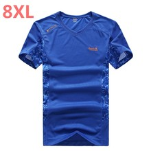 plus size 10XL 8XL 5XL 6XL Summer Style New T Shirt Men outwear black military Quick Dry Slim Fit T-shirt Men's brand Clothing(China)