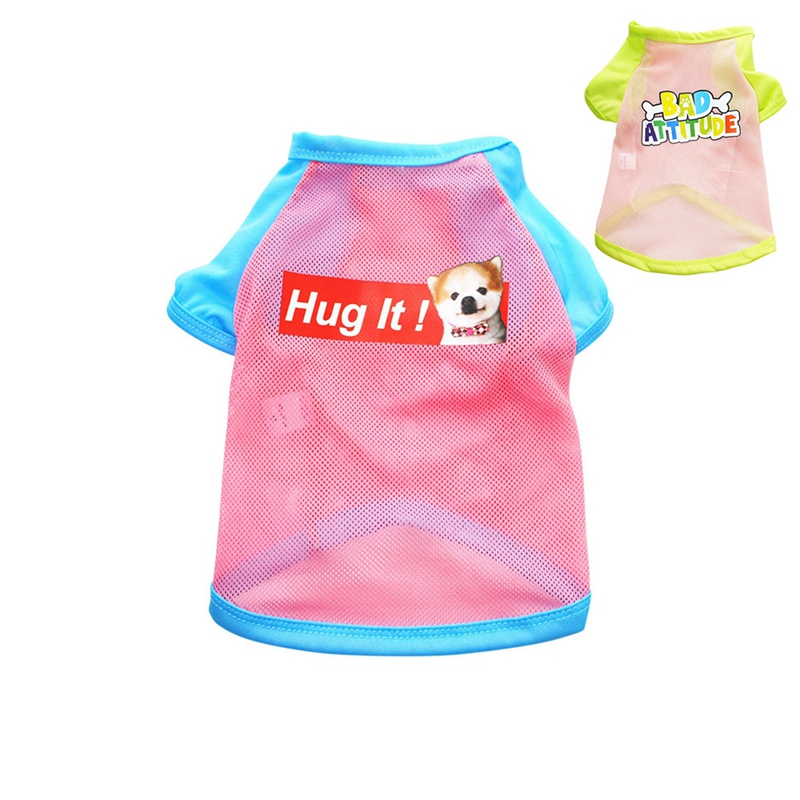 Summer Dog Clothes for Small Dog Clothing Pet Mesh Breathable Vest for Dogs Jacket Clothing for Chihuahua Pet Puppy Costume 8