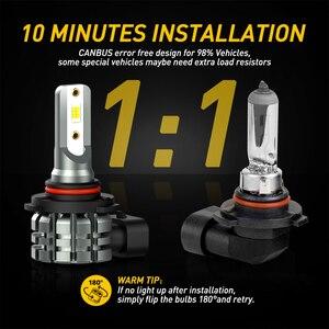 Image 5 - AUXITO 2X H11 żarówki LED światła przeciwmgielne H8 H9 H16 JP LED CSP 6000k biały/3000k złoty żółty 12V 24V DRL samochód do jazdy dziennej lampa samochodowa