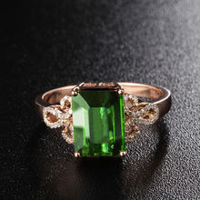 Женское кольцо из розового золота 14 к обручальное меди и бирюзы