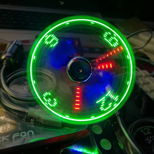 USB Fans Mini Time  Display Creative Gft with LED Light New Cool Gadgets Products for Laptop PC Dropship 2021