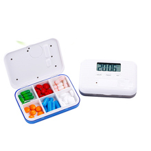 Newest Pockets Mini Pill Box Case Electronic Timer Alarm Clock Reminder Medicine Store Multifunctional 2018 portable grid intelligent electronic timing pill case alarm timer pills reminder storage box best gift for women