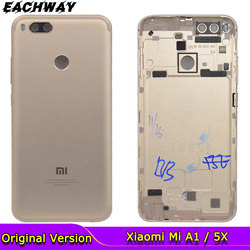 for Xiaomi Mi A1 Battery Cover A1 Rear Door Back Housing Case For Xiaomi Mi 5X A1 Battery Cover With Power Volume Button Replace
