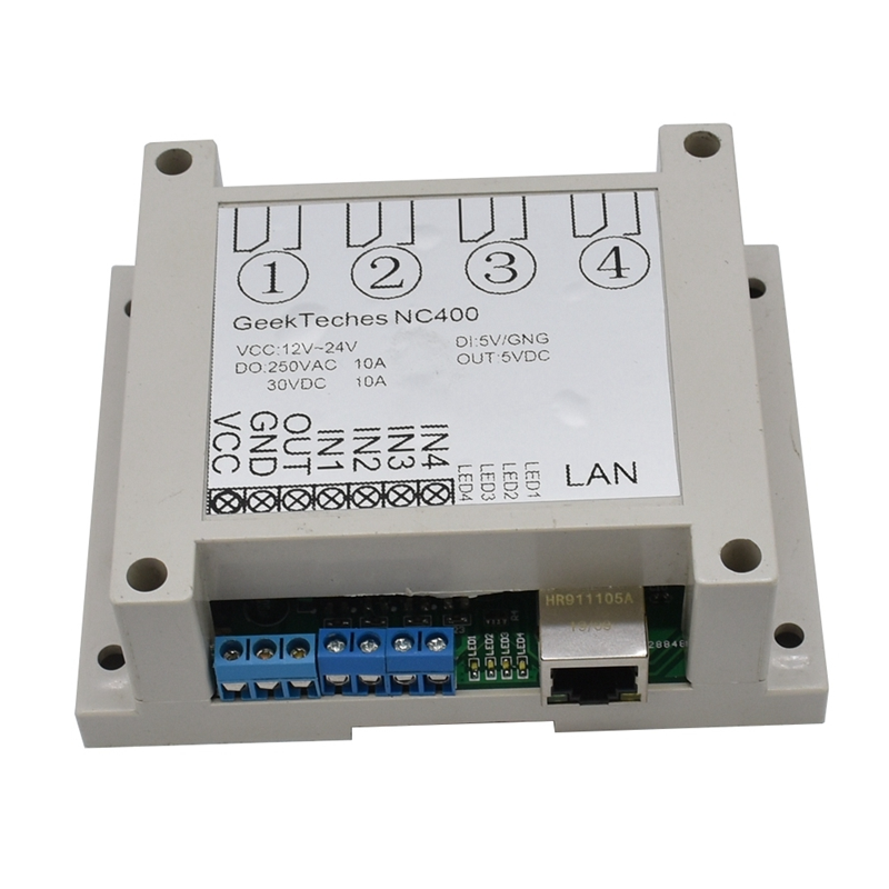 Ethernet RJ45 TCP/IP WEB Remote Control Board With 4 Channels Relay UDP W5500 Networking Controller