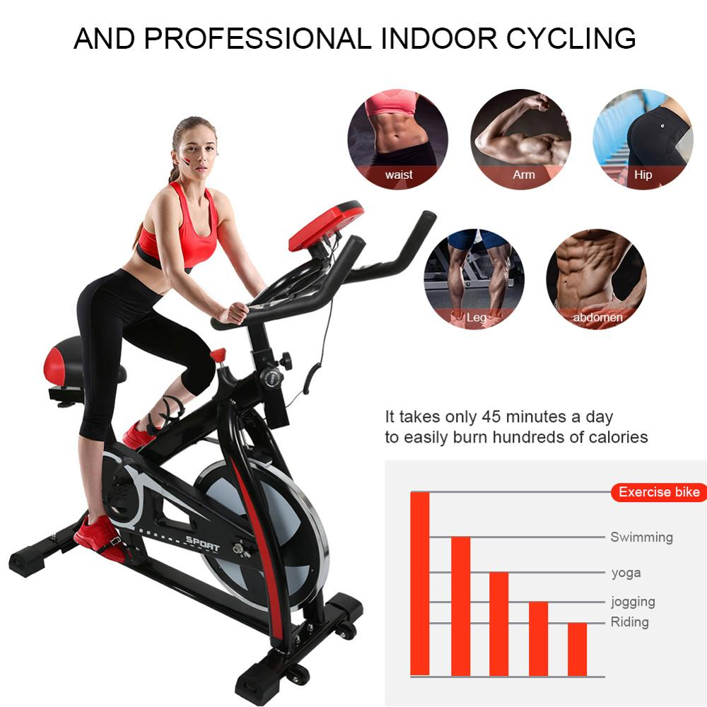 Indoor Cycle Bike Stationary Cycling Exercise Home Gym Bicycle Equipment With LCD Display EDF88