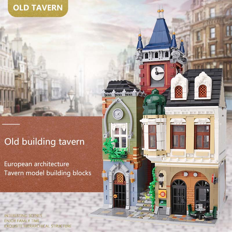 Creator Expert Twon Old Pub Bricks Set Building Bricks Toys Compatible with Legoings City Street View Set Kids Gift 2