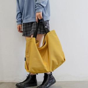 Canvas Handbag Women Large Cap