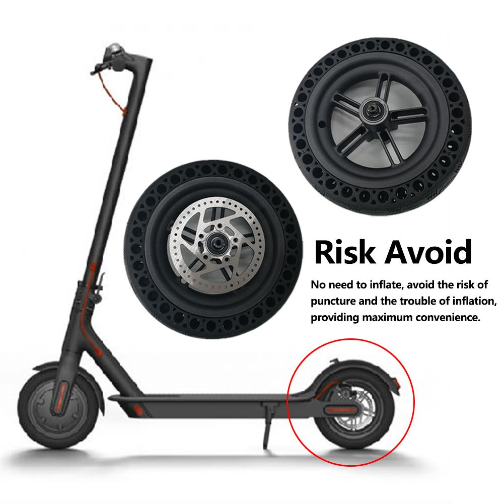 Electric Scooter Universal Accessories 8.5 Inch Honeycomb Tire Rear Wheel And Brakes Car Accessories For Xiaomi M365