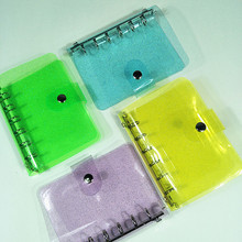 A7 Spiral Loose-leaf Notebook Cover Loose Ring Binder Diary Shell Planner Cover Case Transparent Office Supplies