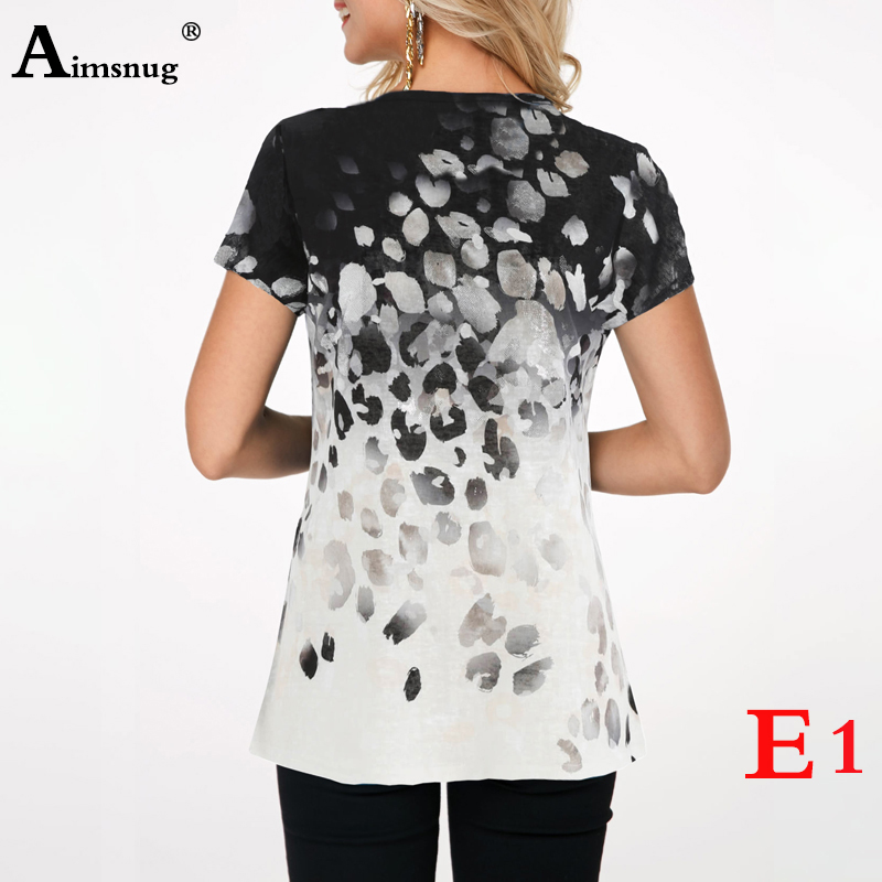 H703db1f01a0c4c82bfde284d446cf2966 - Plus size 4xl 5xl Women Fashion Print Tops Round Neck Short Sleeve Boho Tee shirts New Summer Female Casual Loose T-shirt
