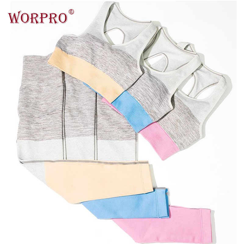 Trinity Seamless Yoga Set  Women Gym Clothes Seamless Fitness Set Yoga Sets Gym Fitness Sportswear Stretch Sweat Support Gym Set