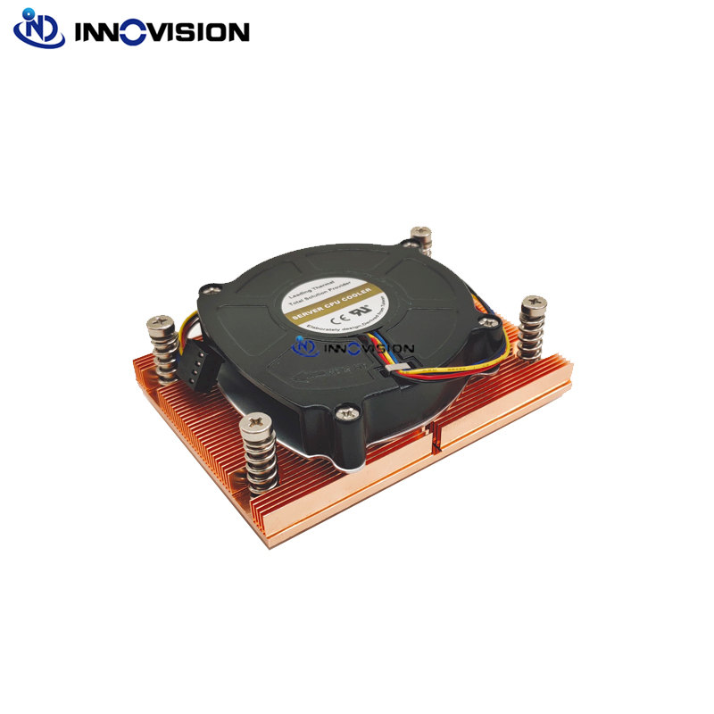 New high quality 1U AM4 cpu cooler server heatsink with high volume 8015 fan for AMD Ryzen TDP up to125W,With backplane(China)