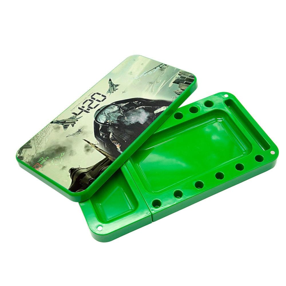 HONEYPUFF пластиковый поднос для сигарет, многофункциональный акриловый поднос для хранения табака высокой емкости - Цвет: Type-9