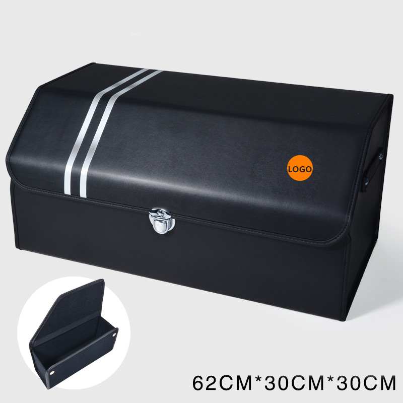 For Ford Mustang Shelby Interior Modification Microfiber Leather Trunk Multifunction Storage Box Car Accessories