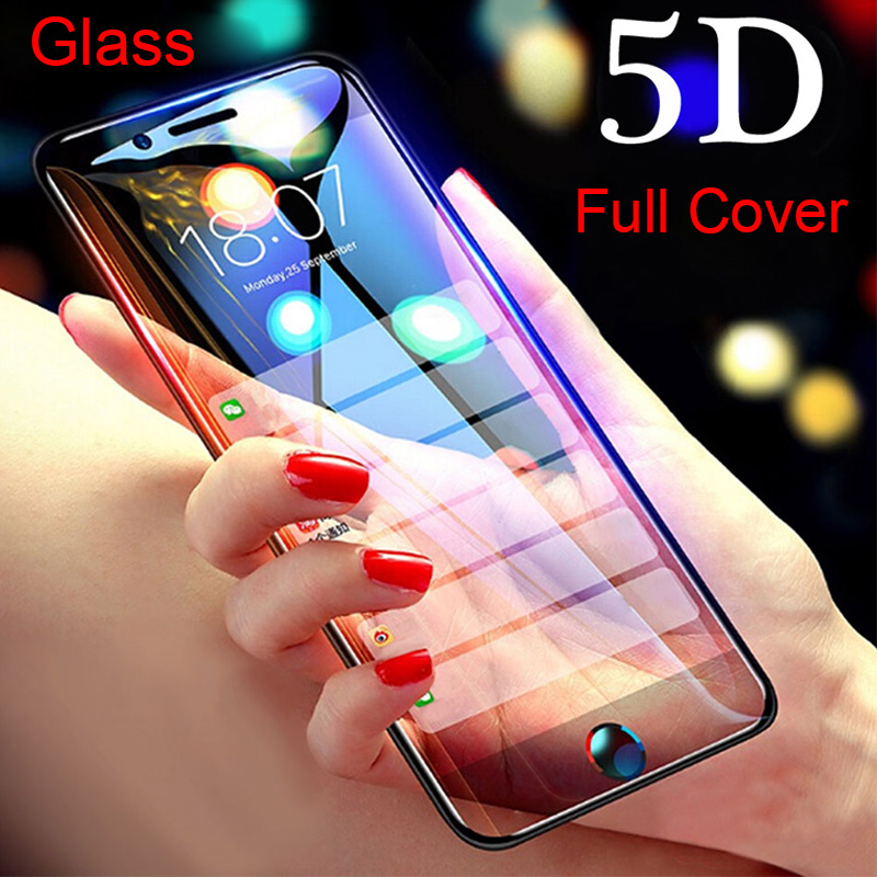 5D Tempered Glass On The For IPhone 8 Plus Protective Glass For IPhone 7 Plus X 11 Pro Max Screen Protector On IPhone 6 6s Plus