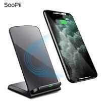 Cargador inalámbrico SooPii  certificado Qi para iPhone 11/11 Pro/XS/X/8/8 Plus  soporte de carga rápida de 10W para Galaxy S10 S9 S8 y más