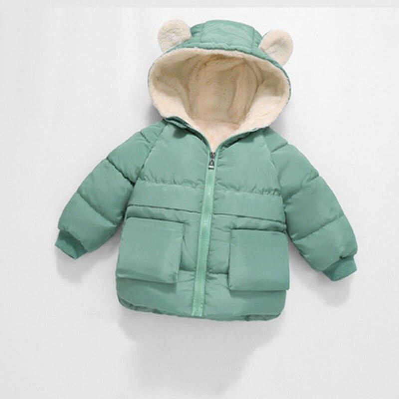CROAL CHERIE Girls Coat Kids Winter Jacket For Boys Warm Fleece Boys Clothes Children Parkas Velvet Outerwear 90-130cm (13)