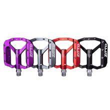 MTB Bearing Aluminum Alloy Flat Pedal Bicycle Good Grip Lightweight 9/16 Pedals Big For Gravel Bike Enduro Downhill JT01
