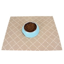 PVC Waterproof Pet Mat For Dog Cat Silicone Food Pad Bowl Drinking Feeding Placemat Litter Tablecloth