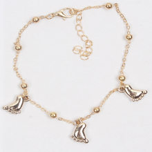 Cute Fashion Exquisite Small Feet Pendant Bracelet Retro Gold Silver Adjustable Chain Charm Bracelets for Women(China)
