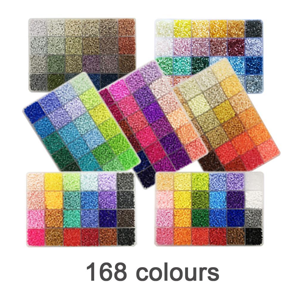 Yantjouet 2.6mm 168 couleur 7 plaque avec Kit d'outils 92400 pièces Hama perles perles de fer bricolage jouet pour enfants boîte de haute qualité